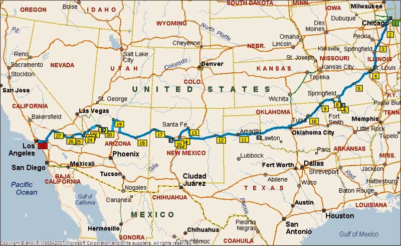 Discovering Route 66 The History The Romance The Road Trip of – Travel Route 66 Map